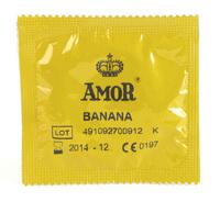 - 10 stk. AMOR - Banana kondomer