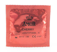 - 10 stk. AMOR - Cherry kondomer
