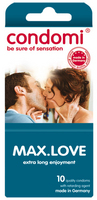 - 10 stk. CONDOMI - Max Love Kondomer