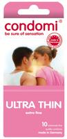 - 10 stk. CONDOMI - Ultra Thin Kondomer